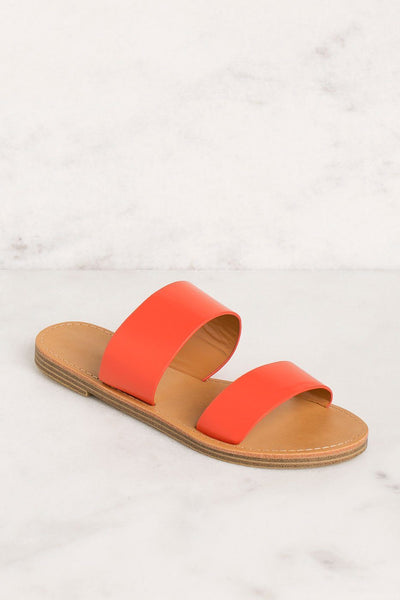 Priceless | Coral | Slide On Sandals | Shoes | Womens