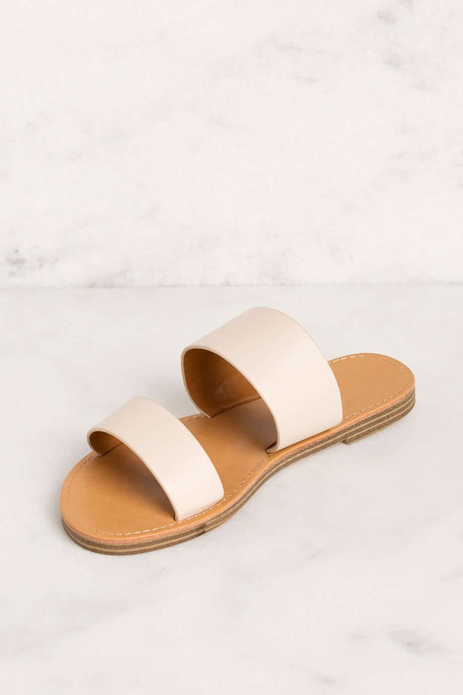 d6a3d66bef583 ... Priceless   Cream   Slide On Sandals   Shoes   Womens ...