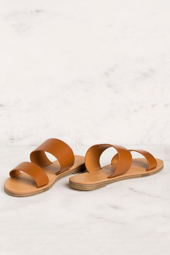 Priceless | Tan | Slide On Sandals | Womens