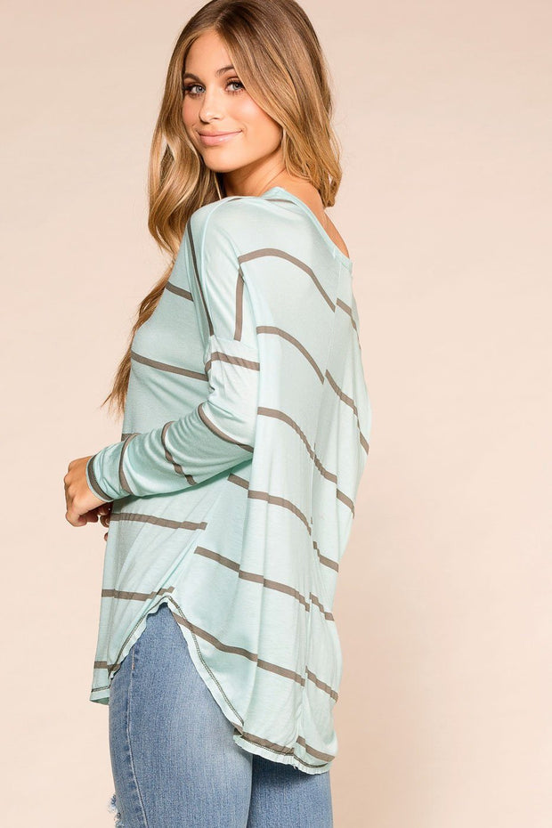 Priceless | Mint | Striped Top | Womens