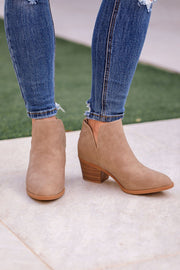 Khaki Ankle Booties