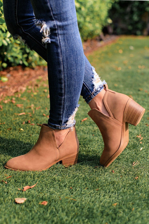 Light Tan Ankle Booties