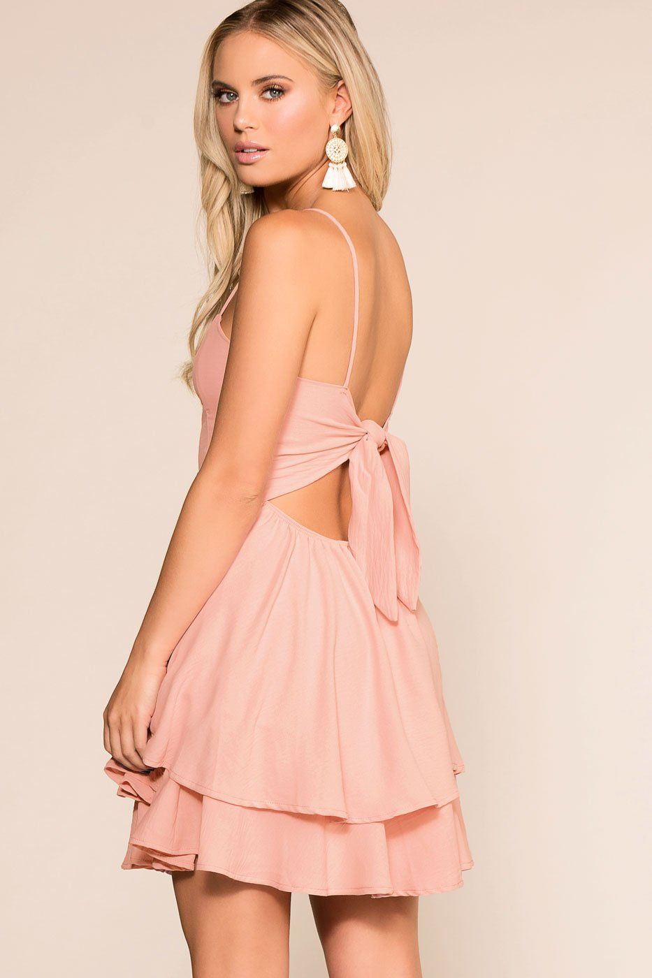 dd70007d865 Kayla Blush Layered Skater Dress