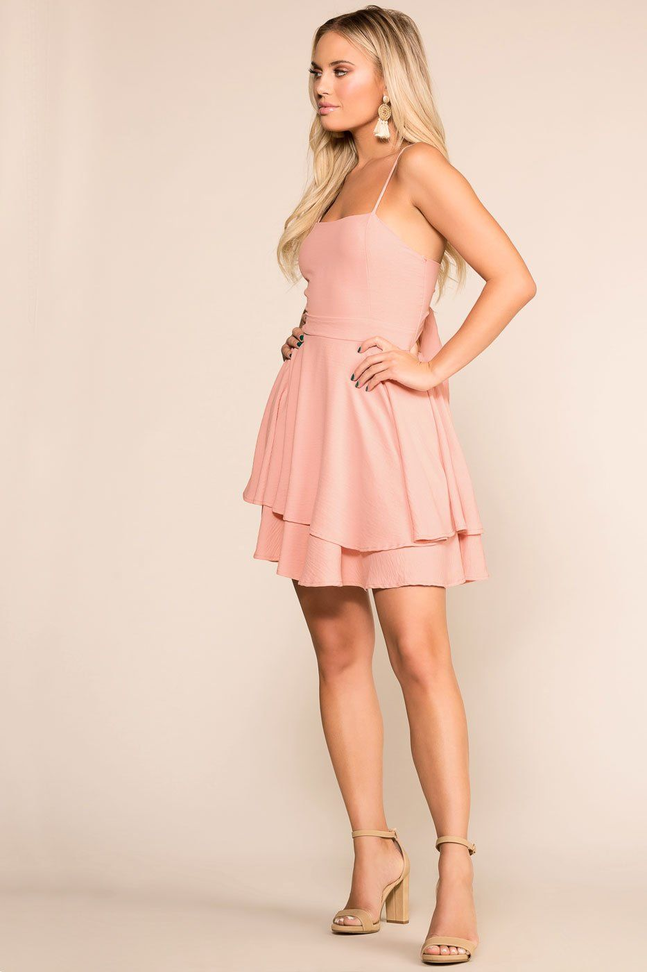 Priceless | Blush | Layered | Skater Dress | Womens