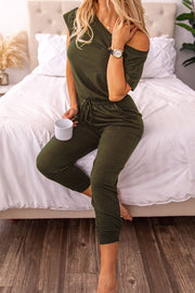 Keep It Simple Olive Jumpsuit