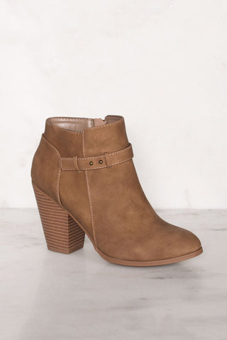 Charlize Burgundy Lace Up Booties