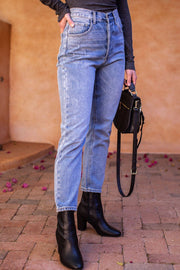 High Waisted Denim Jeans