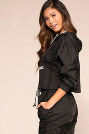 Priceless | Black | Pullover Track Jacket | Womens