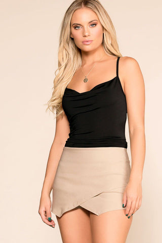 Charlie Black Lace Up Skirt
