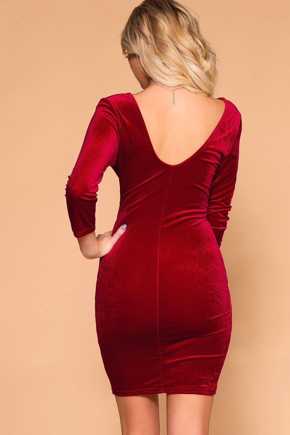 Priceless | Red Velvet | Wrap Mini Dress | Womens