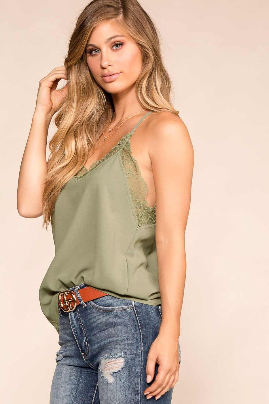 Shop Priceless | Sage | Lace Cami | Womens