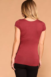 Lazy Days Red Button Top | Shop Priceless
