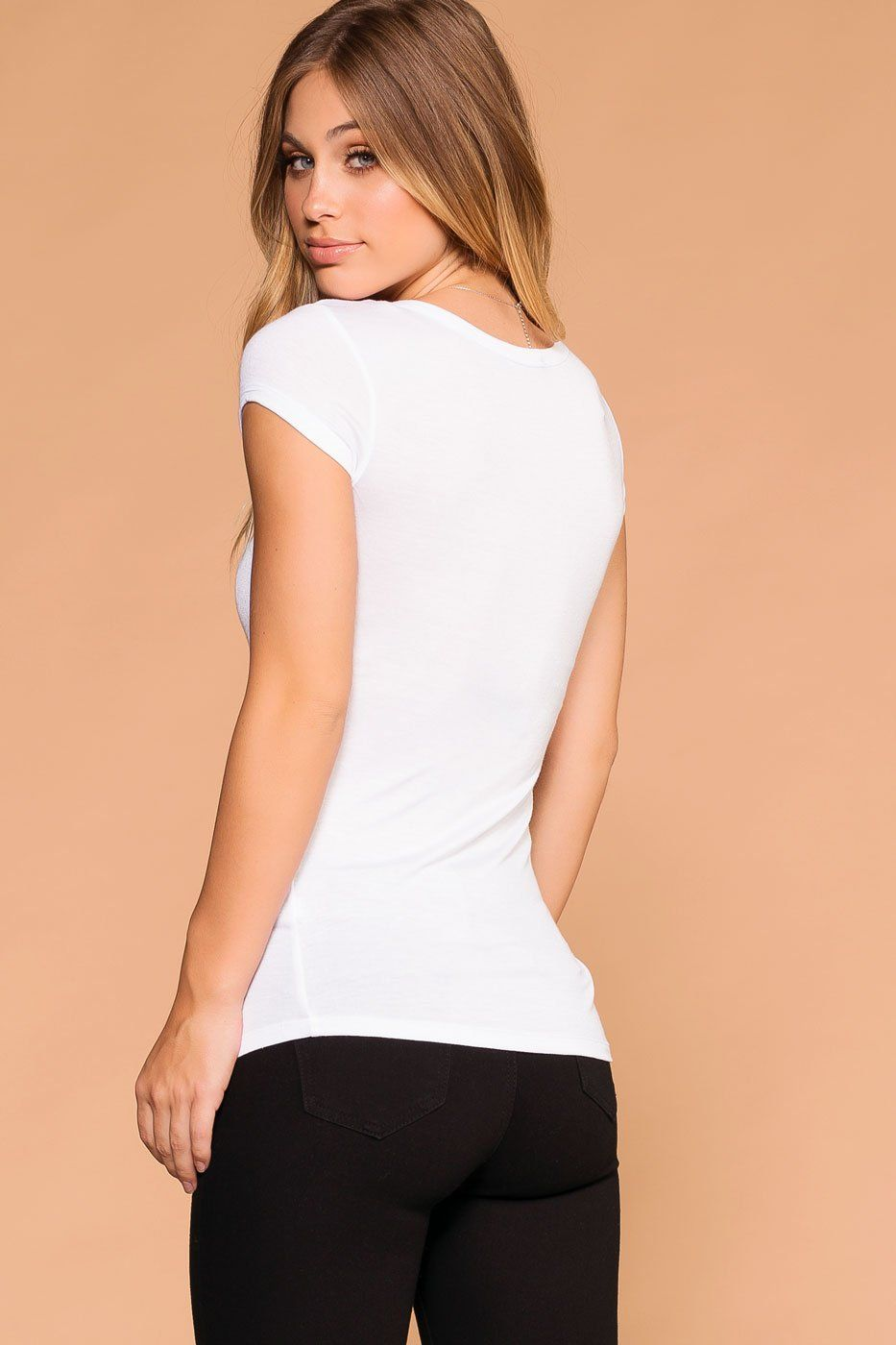 Lazy Days White Button Top