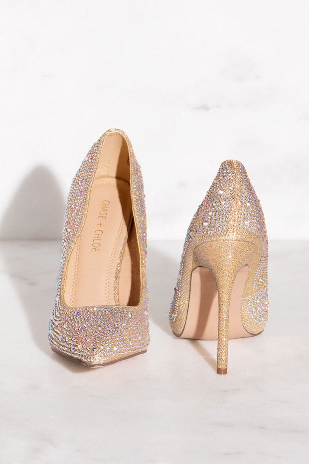 Nude Crystal Pumps