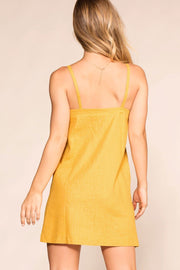 Shop Priceless | Mustard | Button Dress | Womens