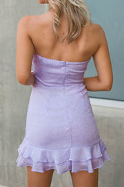 Left Breathless Lilac Dotted Mini Dress | Cotton Candy LA