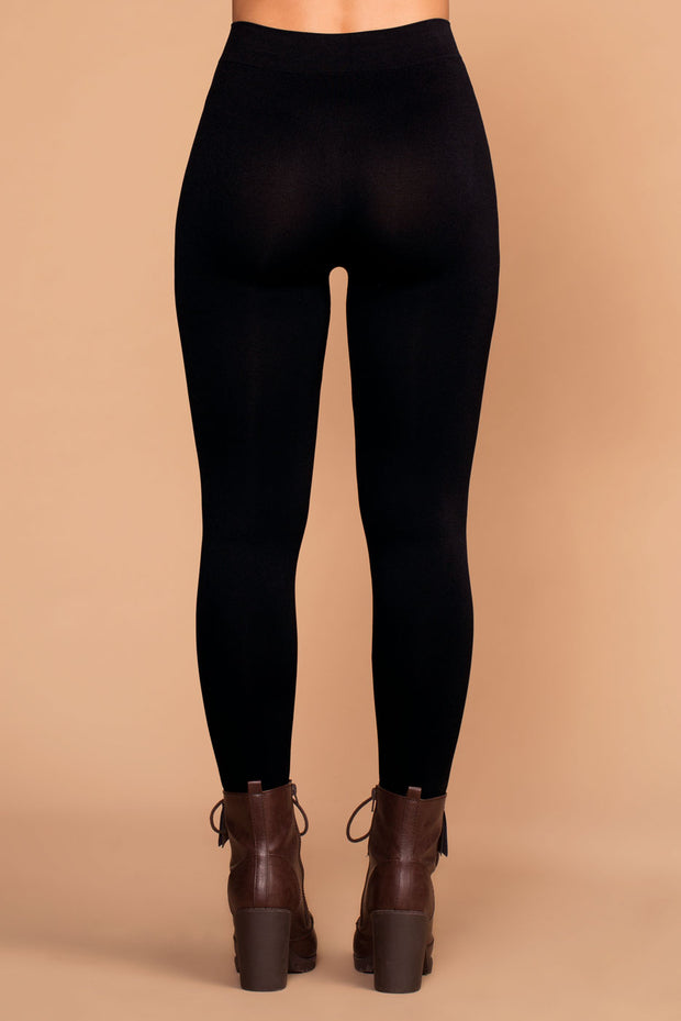 Lena Black Leggings | Zenana