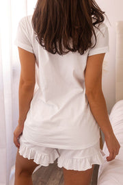White V-Neck Shirt