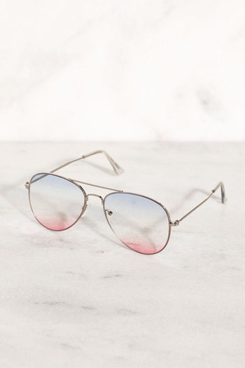 Cotton Candy Gradient Aviator Sunglasses