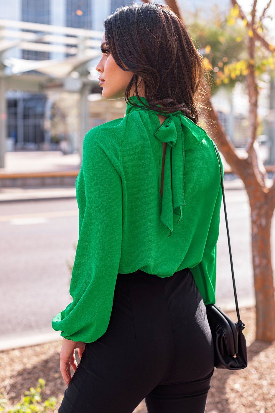 Green Tie-Back Top