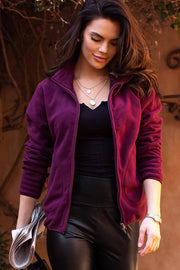Let's Ride Plum Jacket