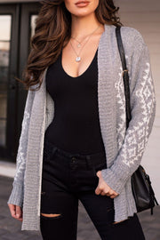 Grey Patterned Cardigan
