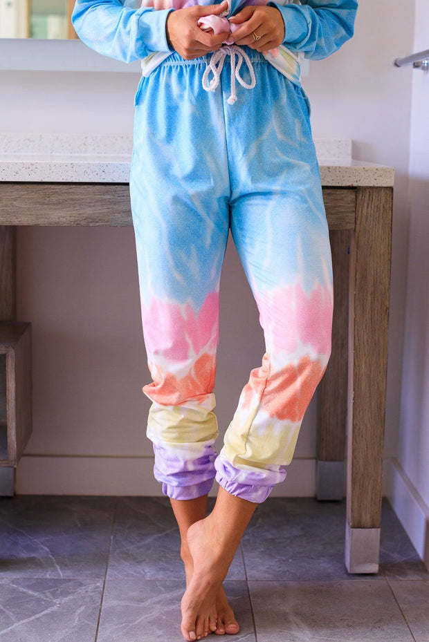 Light and Bright Pastel Tie-Dye Sweatpants