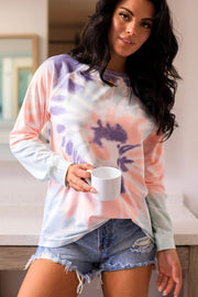Tie-Dye Long Sleeve Top