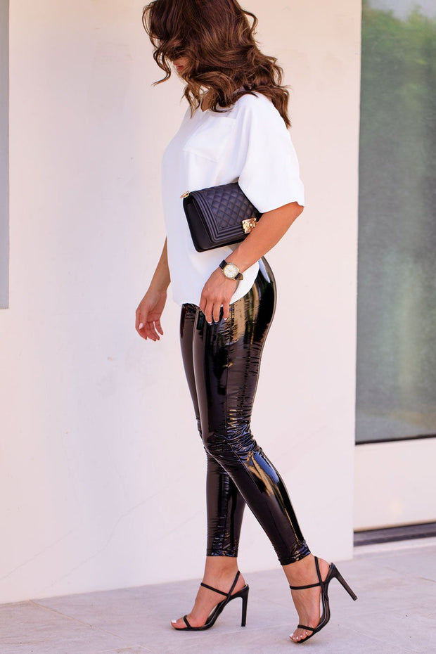 Black Pleather Leggings