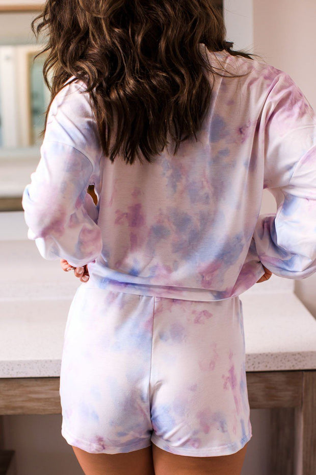 Lilac Tie-Dye Long Sleeve Top