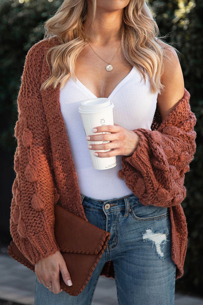 Brick Bubble Knit Cardigan