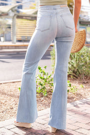 Light Wash Denim Bell Bottom Pants