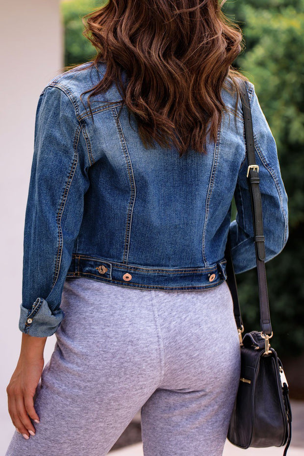 Look Alive Medium Wash Denim Jacket