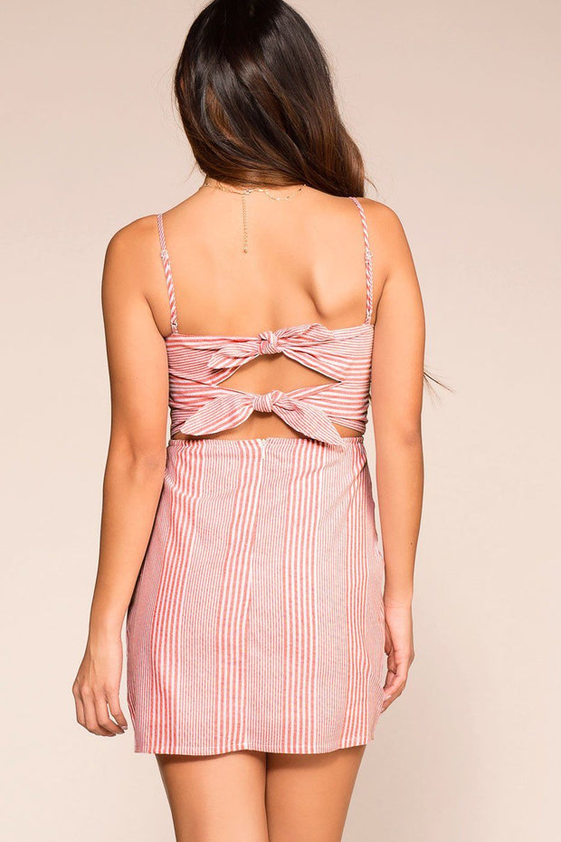 Lou Red Striped Sun Dress | Shop Priceless