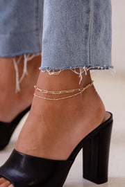 Chain Layered Anklet