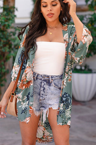 Sunday Brunch High Waisted Floral Shorts - Ivory