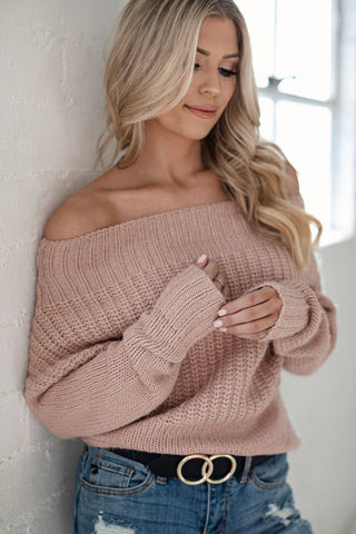 Missing You Distressed Colorblock Sweater