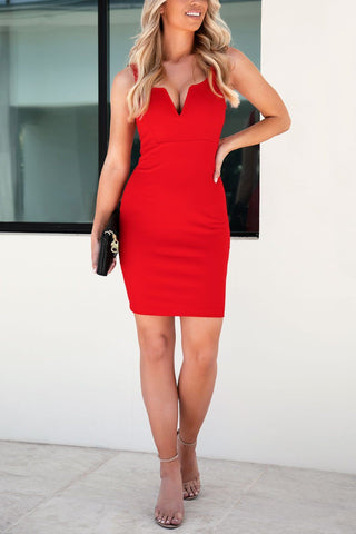 Mix It Up Red Twist-Front Dress