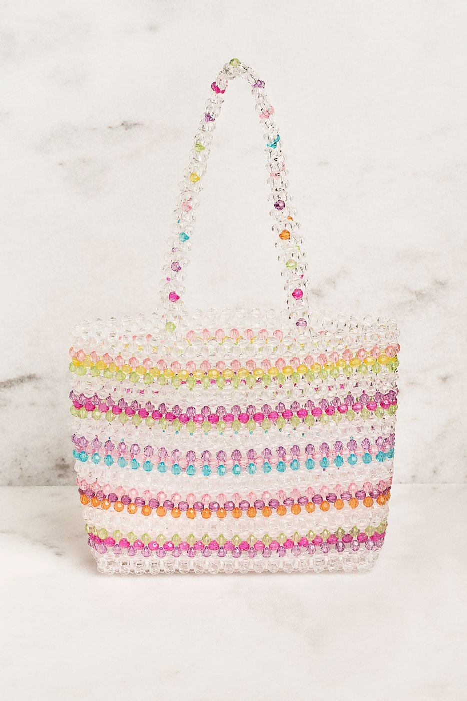 Bright Colored Beaded Handbag