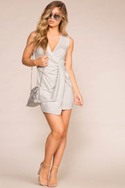 Priceless | Heather Grey | Twist | Mini Dress | Womens