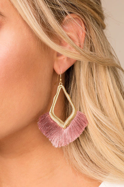Mabel Mauve Tassel Earrings | Fame Accessories