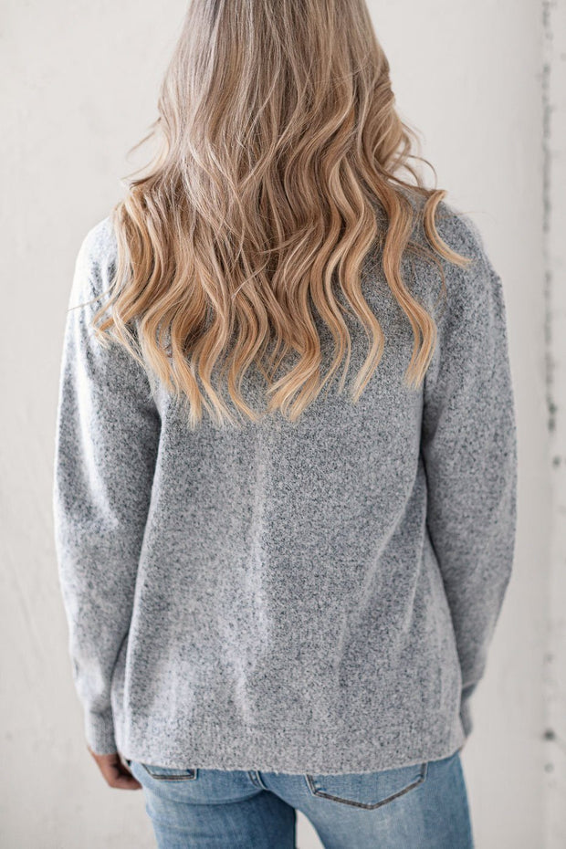 Heather Grey Soft Cardigan