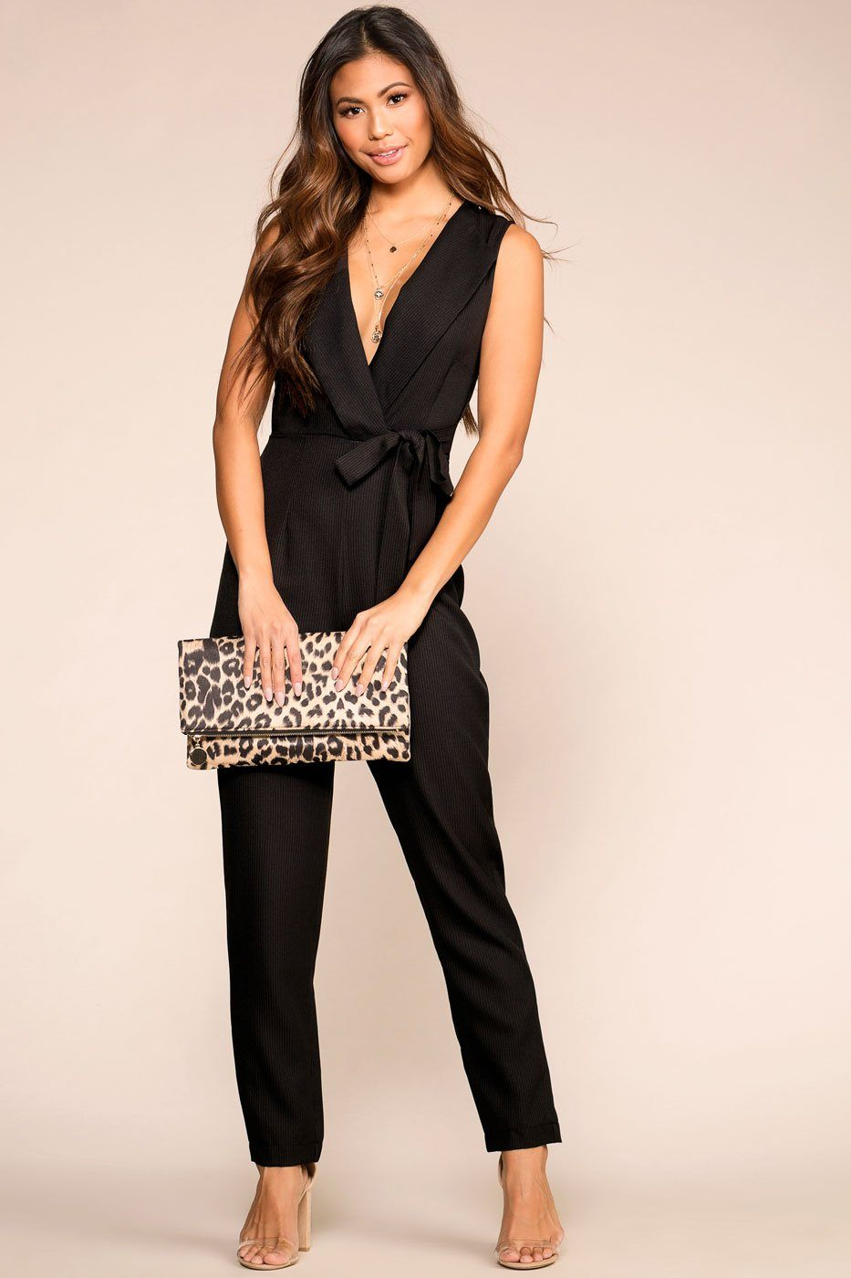 1060e0681fd Make It Work Black Jumpsuit