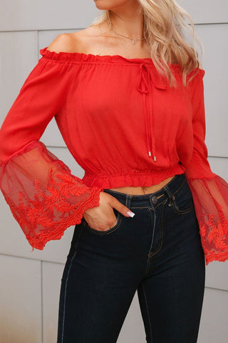 Birdie Coral Pink Off The Shoulder Top
