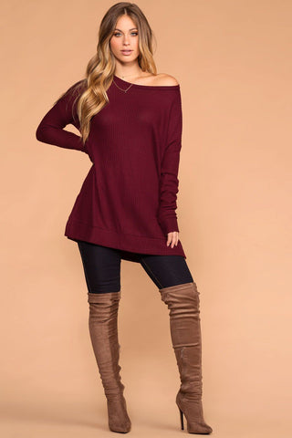 Misty Bodycon Dress - Marsala