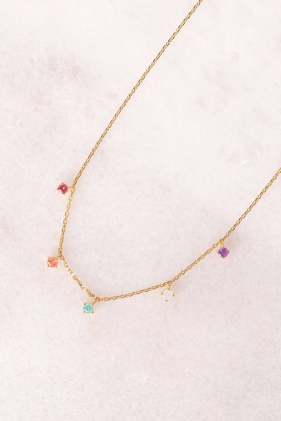Mariko Multicolored Gem Necklace