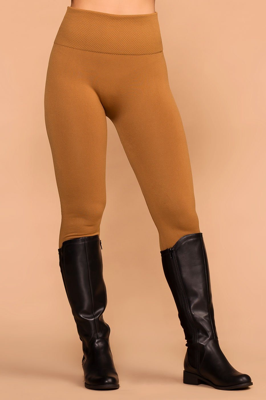 823664a586b161 Priceless | Camel | Seamless Control Top Fleece Leggings | Womens