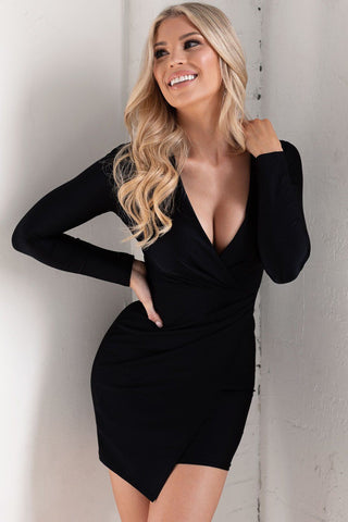 Mavis Black Long Sleeve Bodysuit