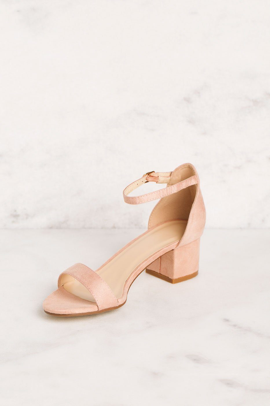 Priceless | Blush | Low Block Heels | Womens