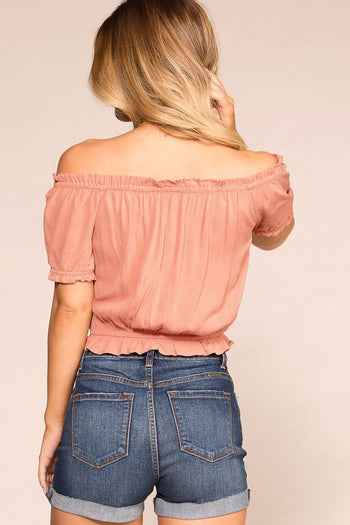 Priceless | Mauve | Off The Shoulder Top | Womens